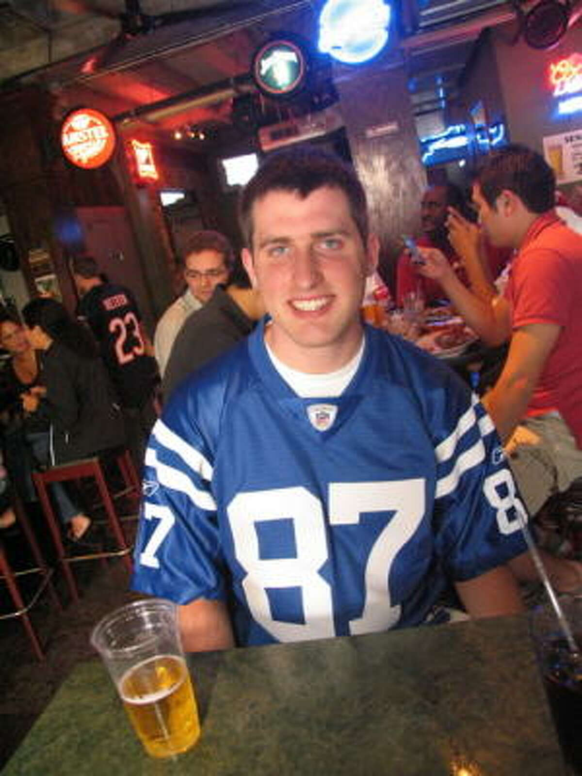 Fans spent their sunday afternoon with football on the big screen and buffalo wings in hand. Pictured: Tom Eline