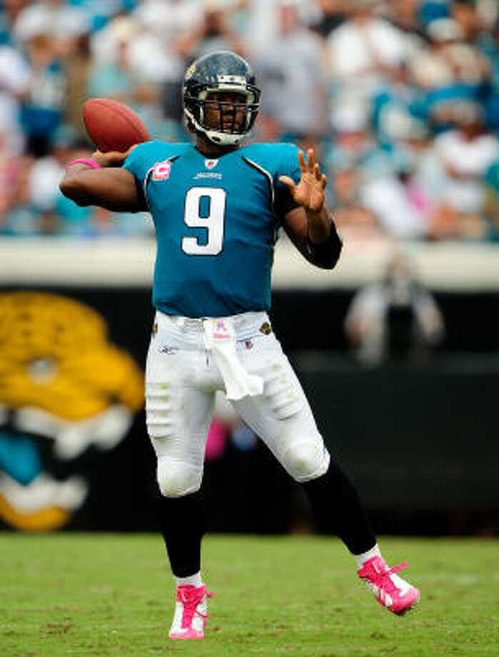 Oct. 4: Jaguars 37, Titans 17Jaguars quarterback David Garrard threw for 323 yards and three touchdowns. Photo: Sam Greenwood, Getty Images