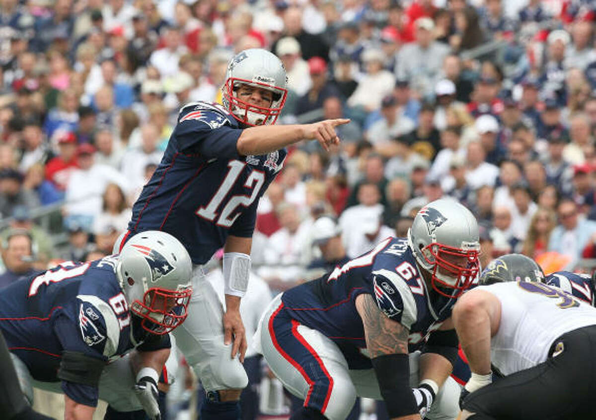 Oct. 4: Patriots 27, Ravens 21 Patriots quarterback Tom Brady (12) tossed for 258 yards and a touchdown.