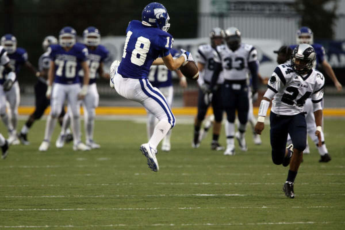 Cy Creek wide receiver Will Chenoweth fails to haul in a catch.