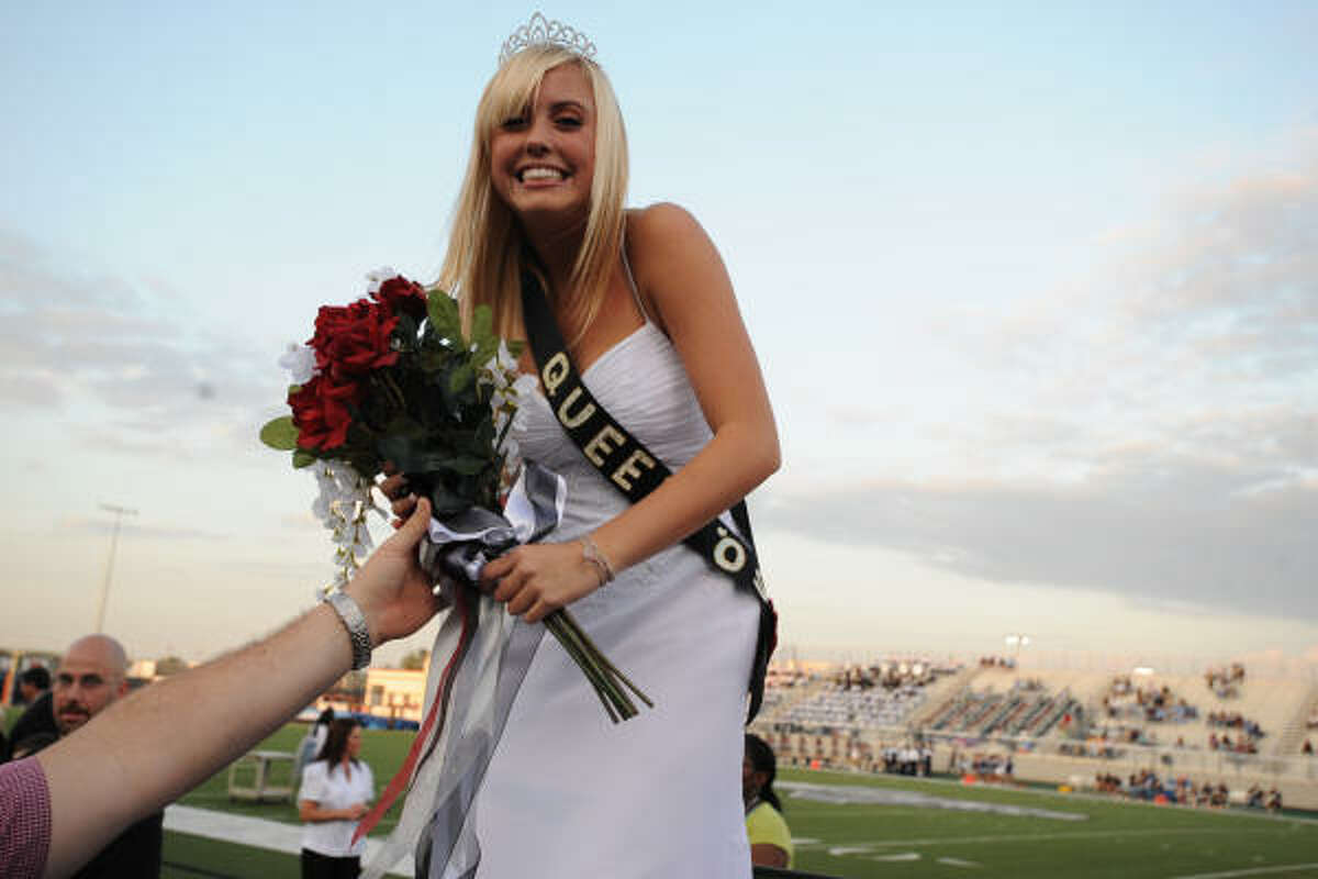 Katelyn Knight was named Pearland's Homecoming Queen during a pre-game ceremony at The Rig stadium.