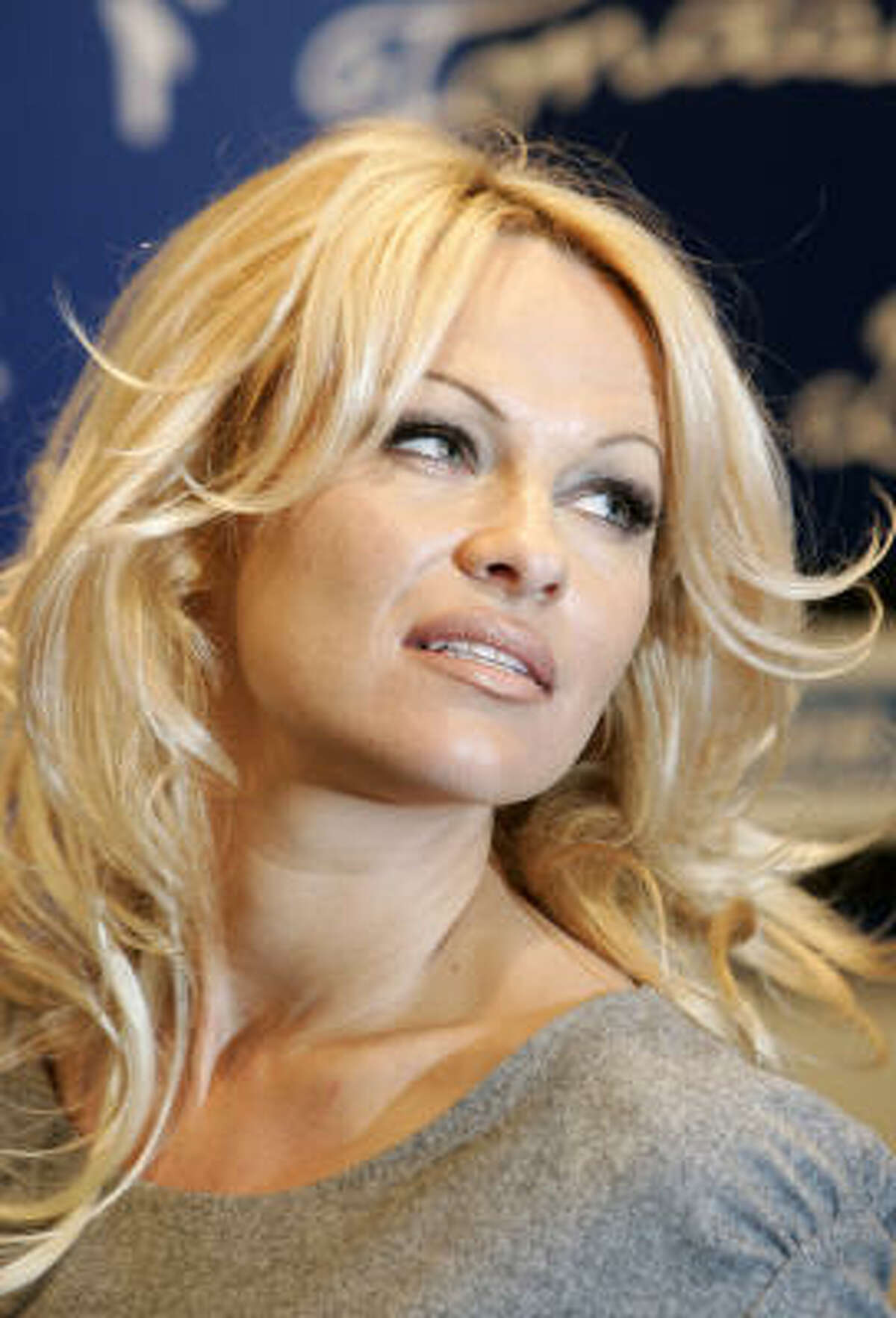 Pamela Anderson is the object of Sasha Baron Cohen's affection in Borat.