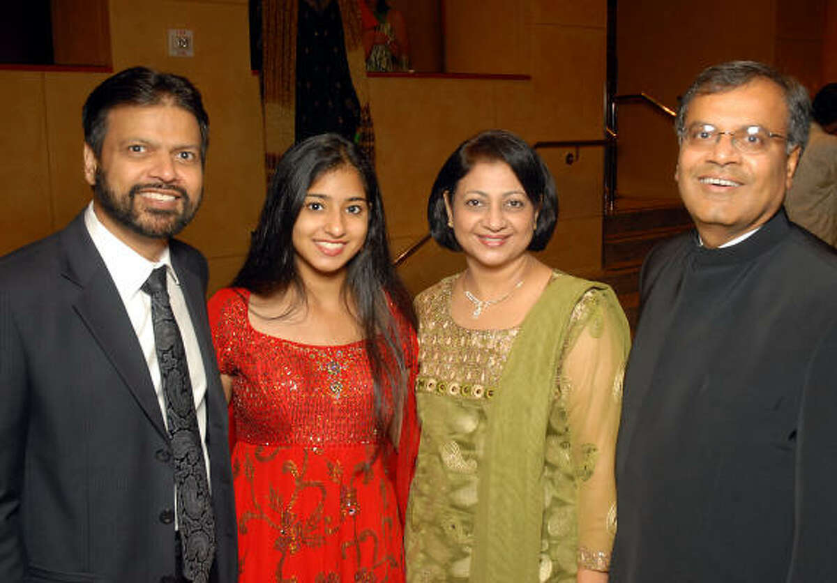 B. Sangani and N. Sangani with Sushma Shah and D. Shah