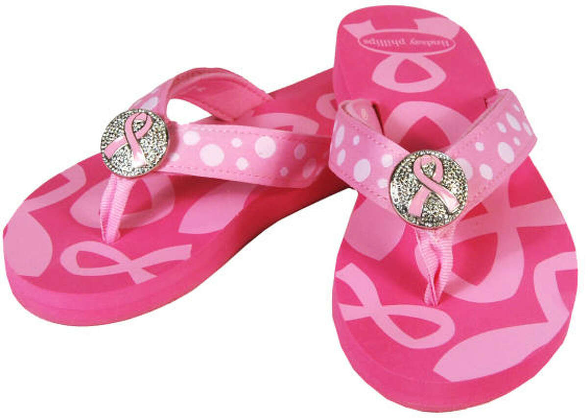 These Pink Ribbon SwitchFlops, $32.95, are available on thepinkribbonshop.com
