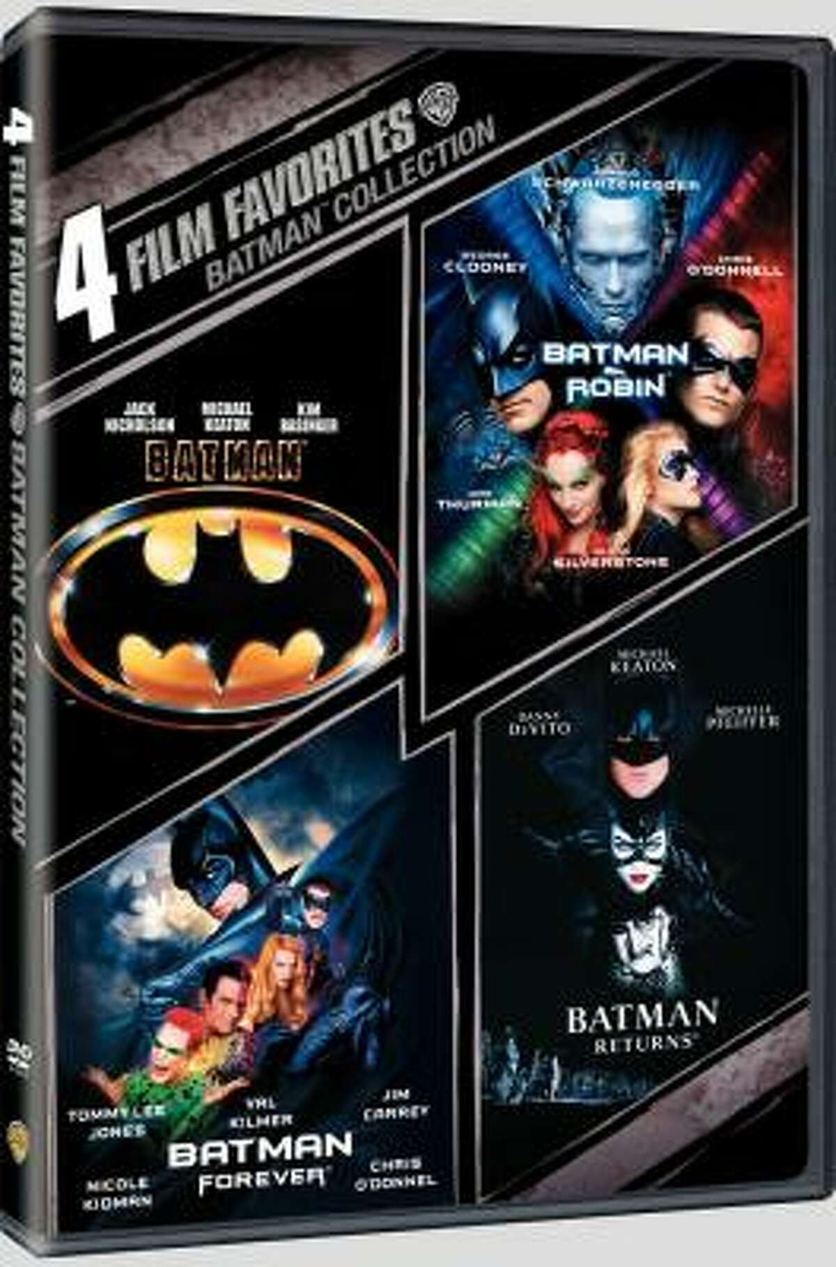 Batman Collection: 4 Film Favorites features Batman, Batman Returns, Batman and Robin and Batman Forever for $19.94. Only 1989's Batman is worth owning.