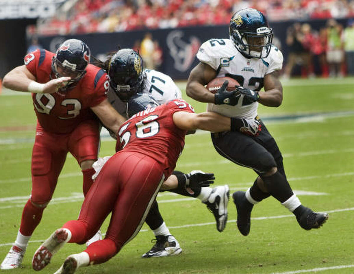 Sunday: Maurice Jones-Drew (Jacksonville) Jones-Drew rushed for 119 yards and three touchdowns in Sunday's 31-24 victory over the Texans.