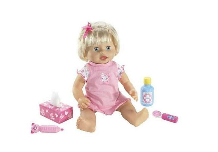 Little Mommy Baby Ah-ChooParental warning: This doll may, or may not, contribute to the spread of swine flu. Photo: Toys R Us