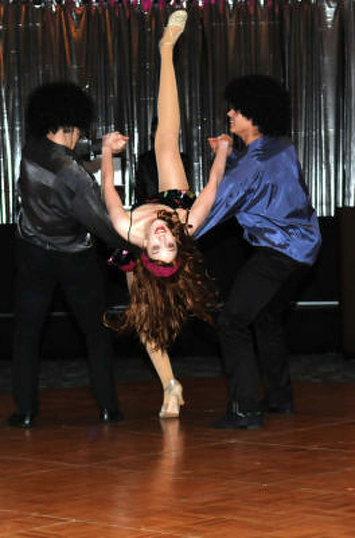 Members of the Bay Area Houston Ballet and Theater perform a Disco Performance.