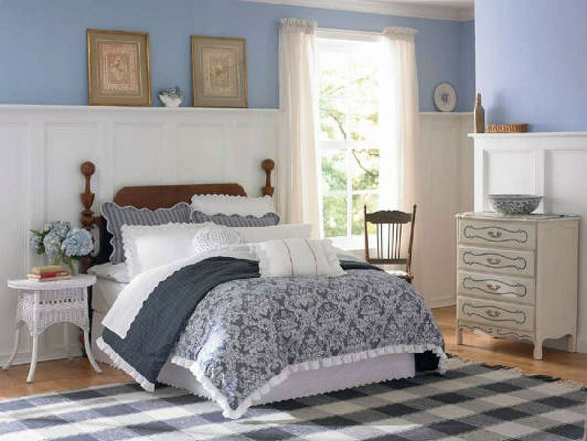 Porcelain Blossom bedding for the Country Living Collection, $14.99-$137.99, www.Kmart.com
