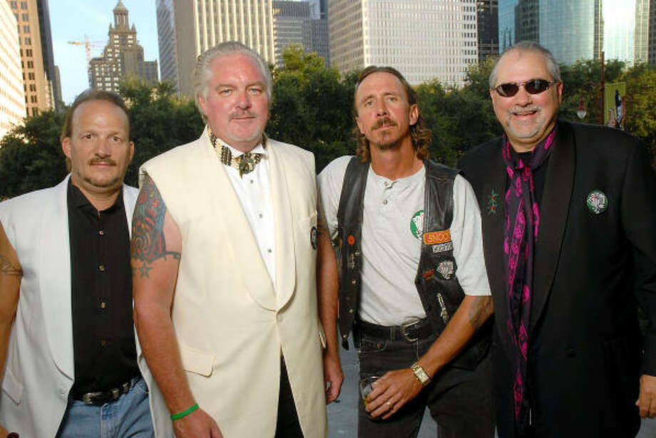 "George Bogle, Sam Allen, Alan ""Snoopy"" Davidson and Bob Cavnar Photo: Dave Rossman, For The Chronicle"