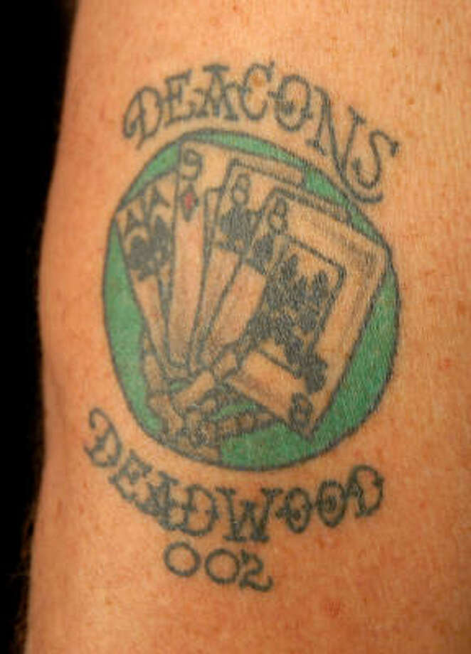 A view of Rickey Cook's tattoo Photo: Dave Rossman, For The Chronicle