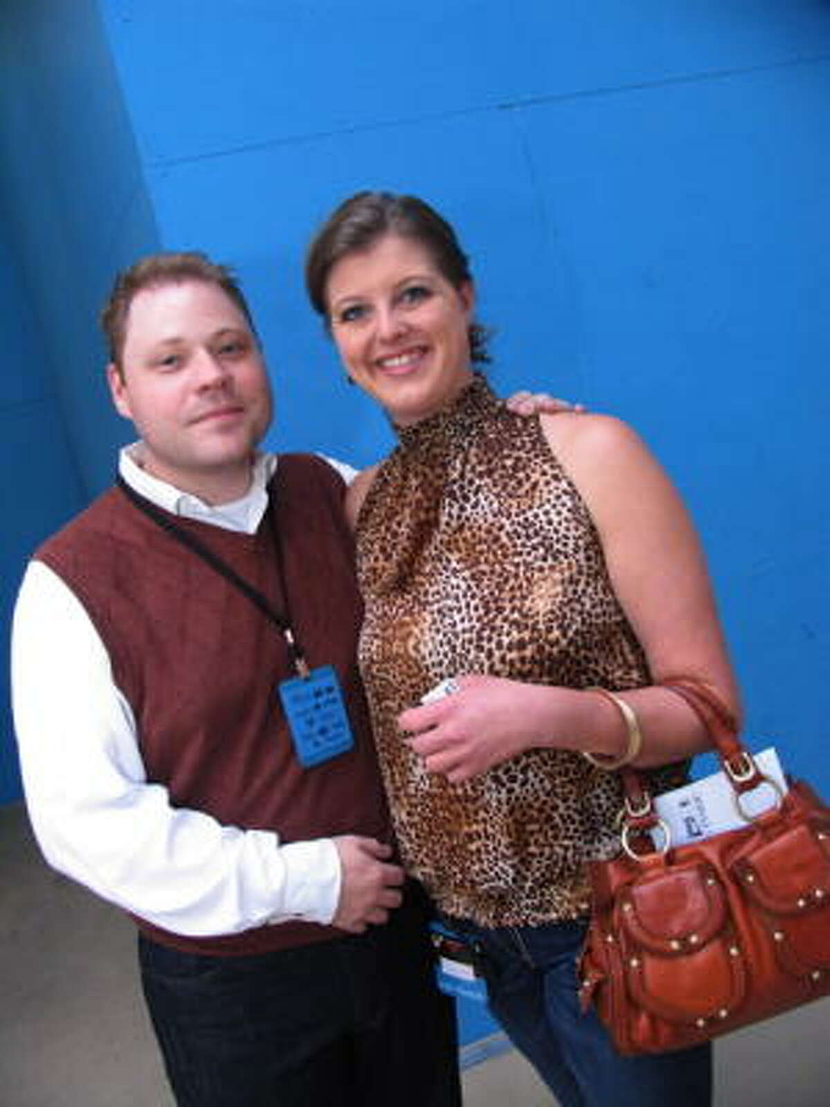 Adam Clay, left, and Carrie Jo Dennis