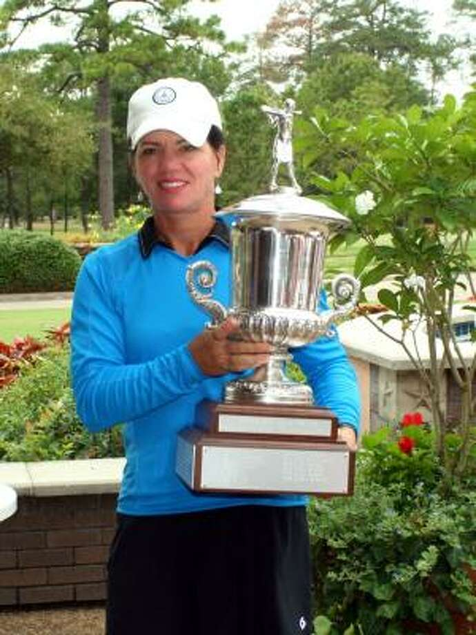 Robin Burke shot a 73 on in the final round of the Women's City Amateur Championship on Thursday to win the three-day tournament with an even-par 216. Photo: Courtesy Of The Women's City Amateur