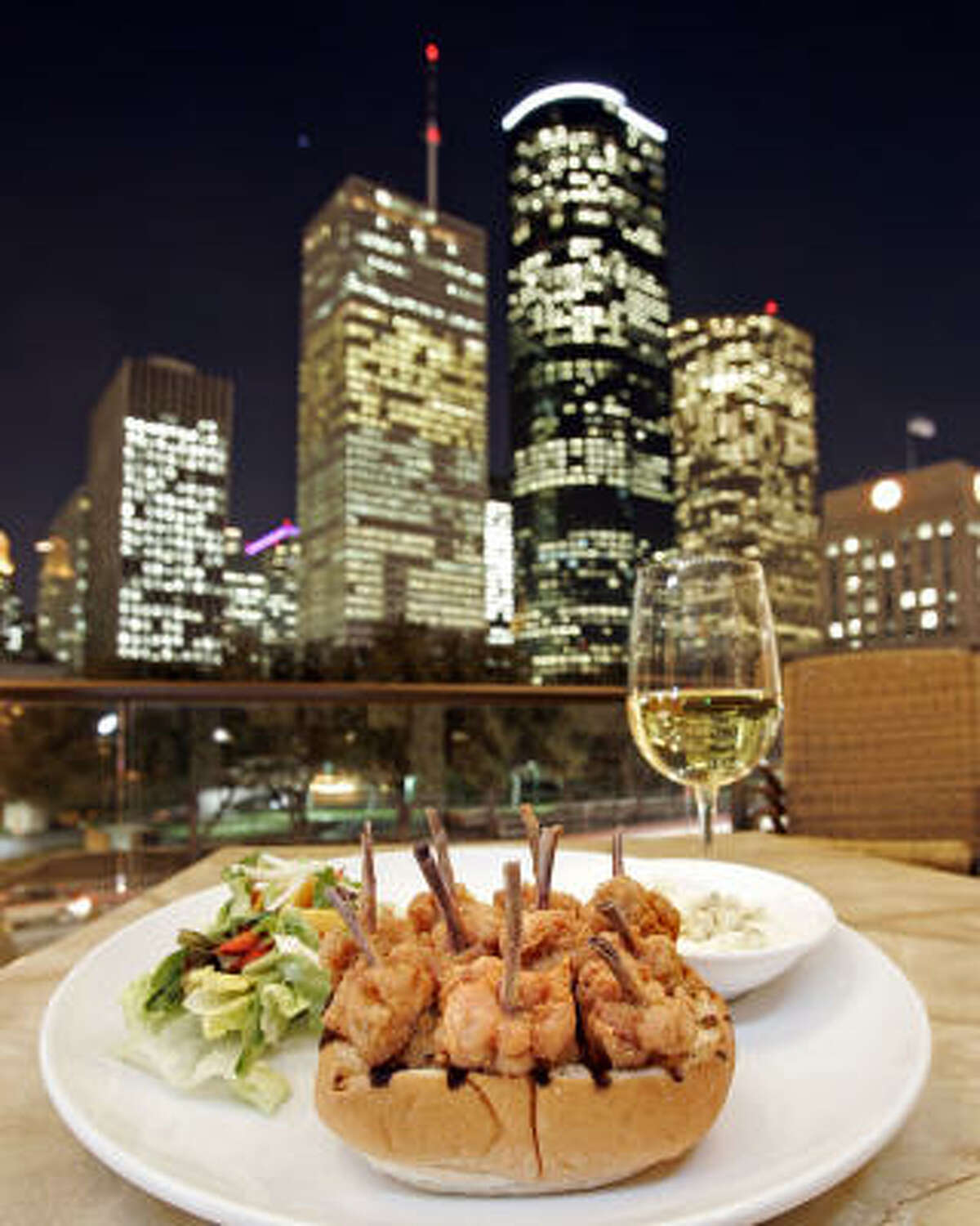 Want to eat among the city lights? Check out some of Houston's most popular downtown restaurants. Artista, 800 Bagby St.