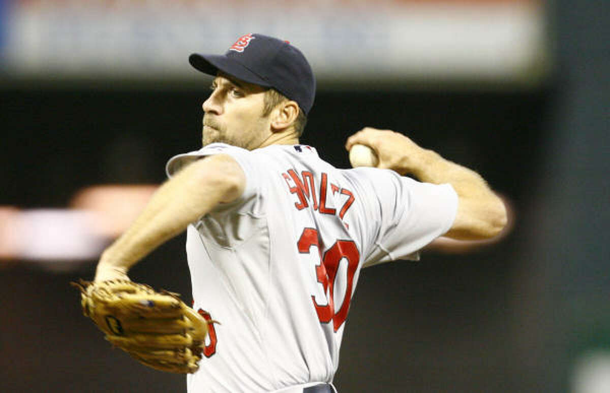 John Smoltz started for the Cardinals.