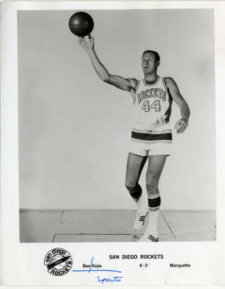 Out westFrom 1968 until 1971 the franchise was based in San Diego and named after the rockets that were helping send men into space, some of which were made in San Diego. They were just the 12th franchise in the NBA. Photo: San Diego Rockets