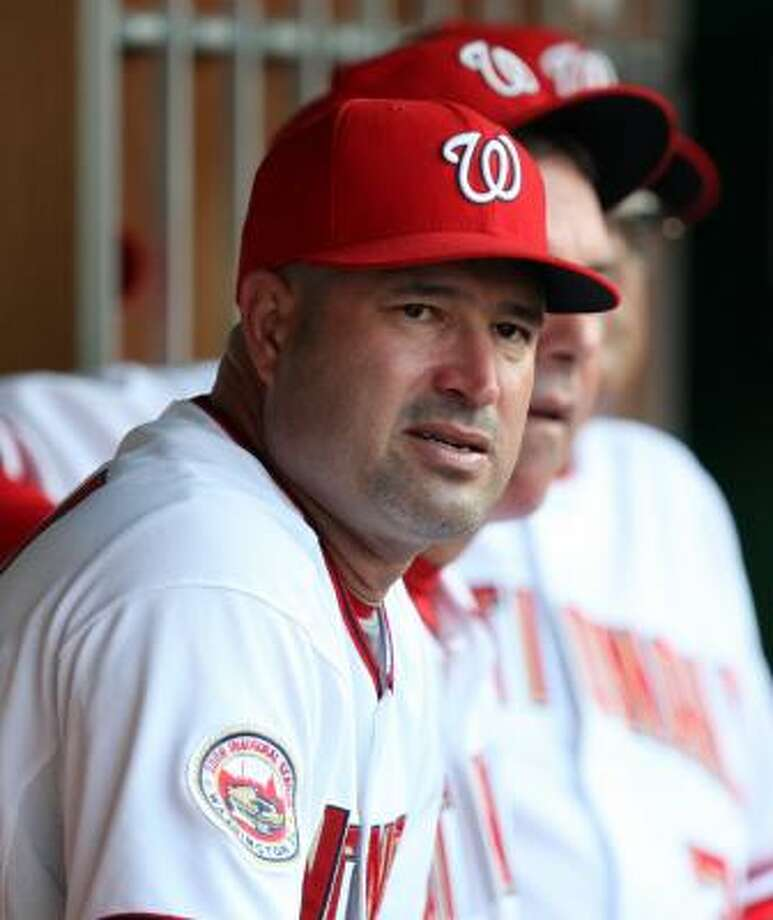 Manny Acta  Led Nationals to 26-61 mark before July firing. Photo: Luis Alvarez, AP
