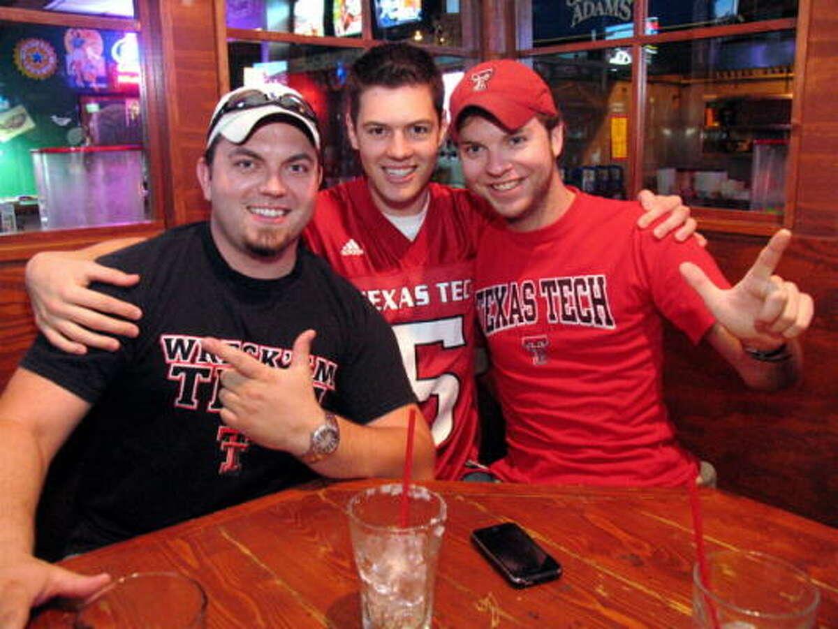 Andrew Blackston, from left, Jack Lammlein, and Scott Braddock