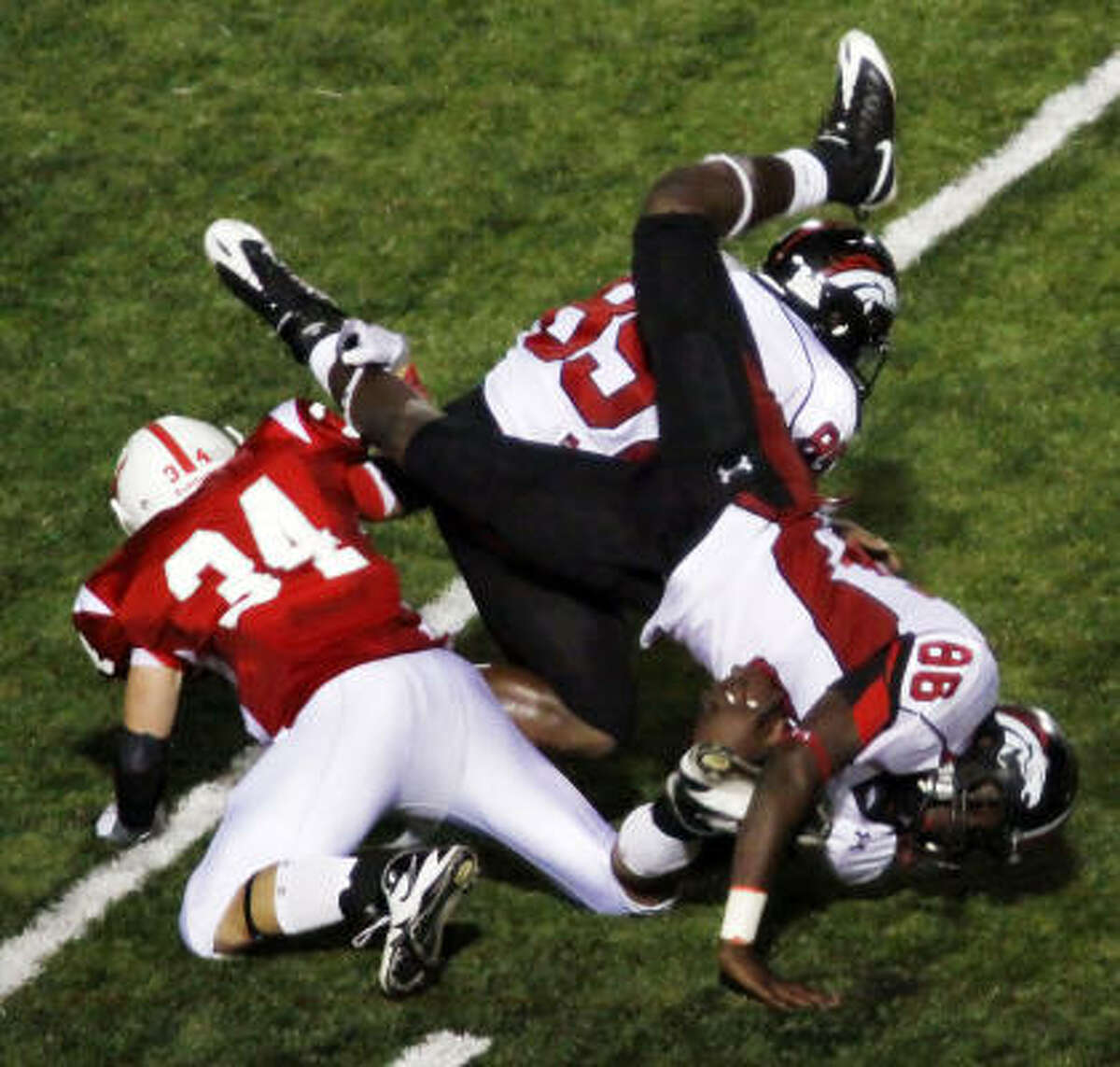 Westfield tight end Katrae Ford (86) is tackled on a kickoff return.