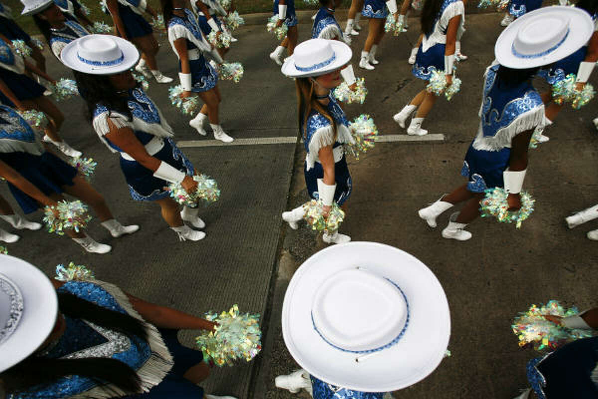 Students from Sam Rayburn High School perform during the 2009 Pasadena Livestock Show and Rodeo Parade.