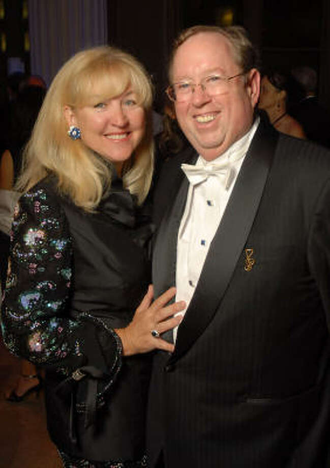 Donna and John Spear at the Houston Symphony's opening night gala dinner at The Corinthian on Saturday, Sept. 12. Photo: Dave Rossman, For The Chronicle