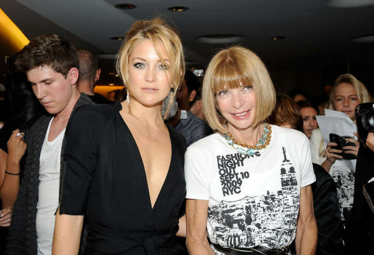 Every year, stars flock to New York Fashion Week to check out the latest trends. Kate Hudson and Vogue Editor-In-Chief Anna Wintour attend Fashion's Night Out. See who else was out and about.