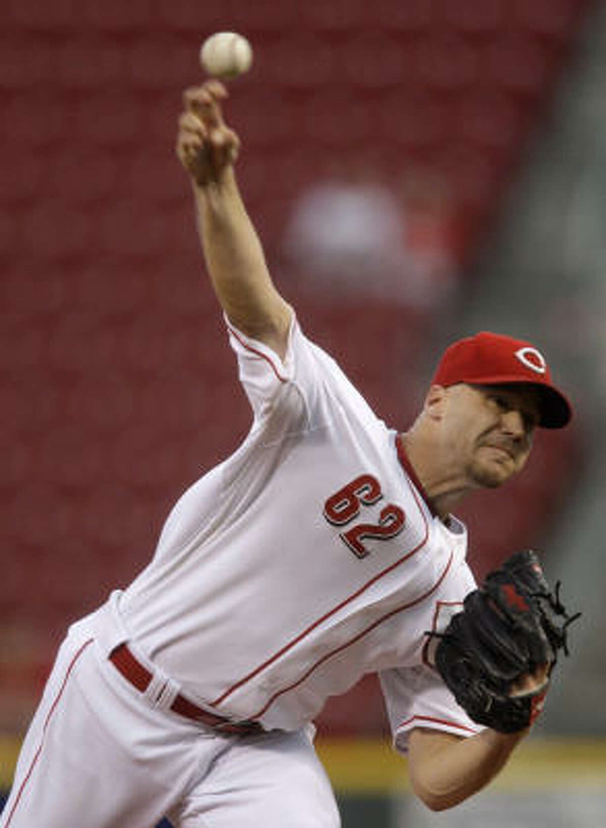 Justin Lehr started for the Reds.