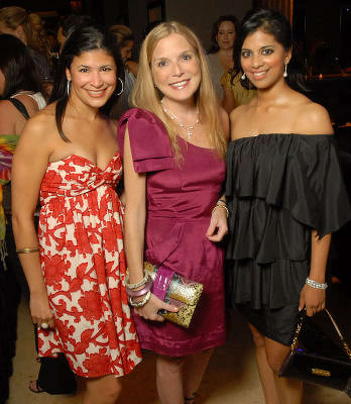 Kristy Junco, Kristen Cannon and Elizabeth Abraham at the Pet Set Soiree at the Hotel ZaZa Friday, Sept. 11.
