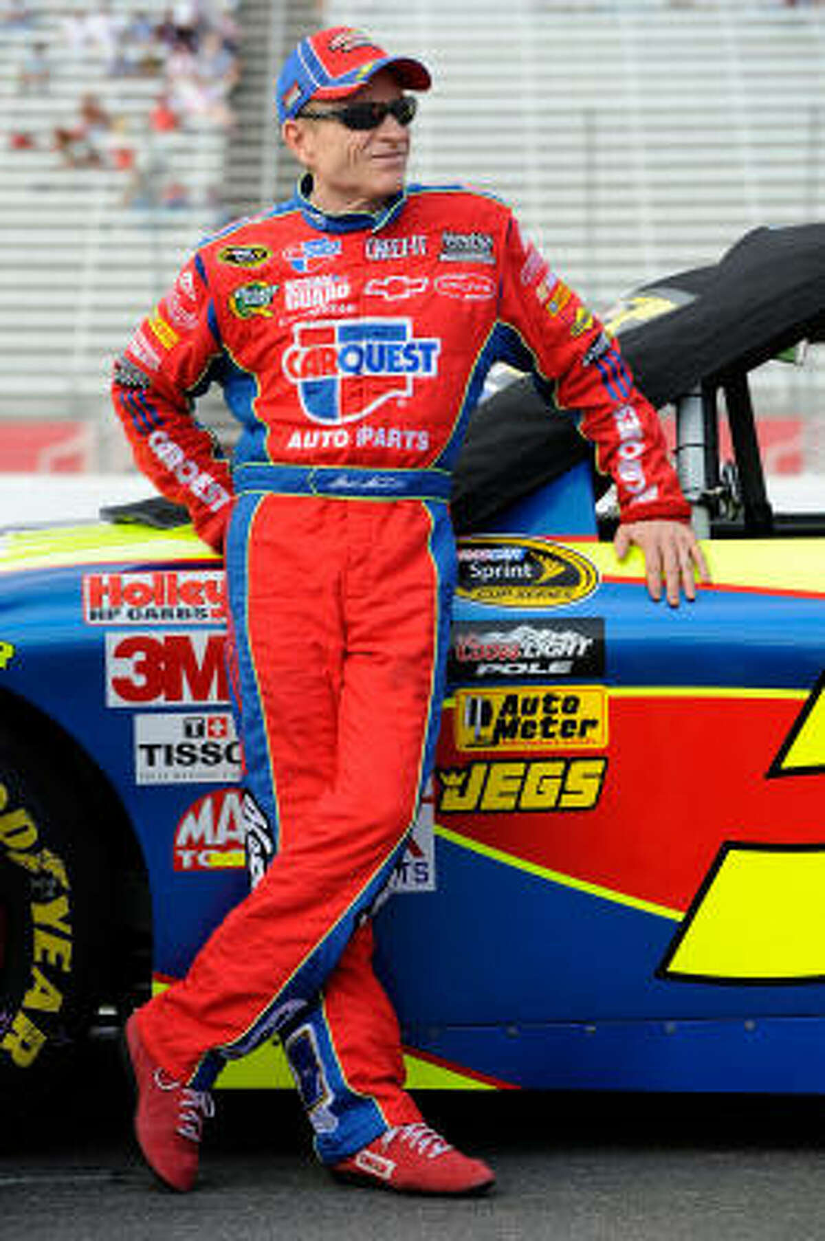 1. Mark Martin Driving the Kellogg's Chevrolet, Martin comes in with nine top 5 finishes including four wins and six poles in 26 starts.