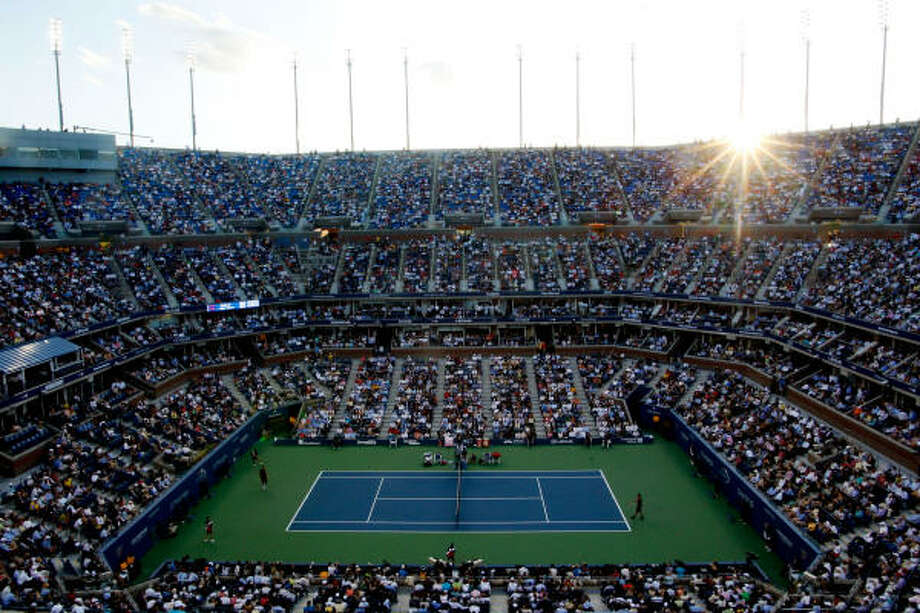 CHAMPIONSHIP MATCH, Monday, Sept. 14A general view of the 2009 U.S. Open Men's Singles Final between Roger Federer of Switzerland and Juan Martin Del Potro of Argentina. Photo: Jared Wickerham, Getty Images