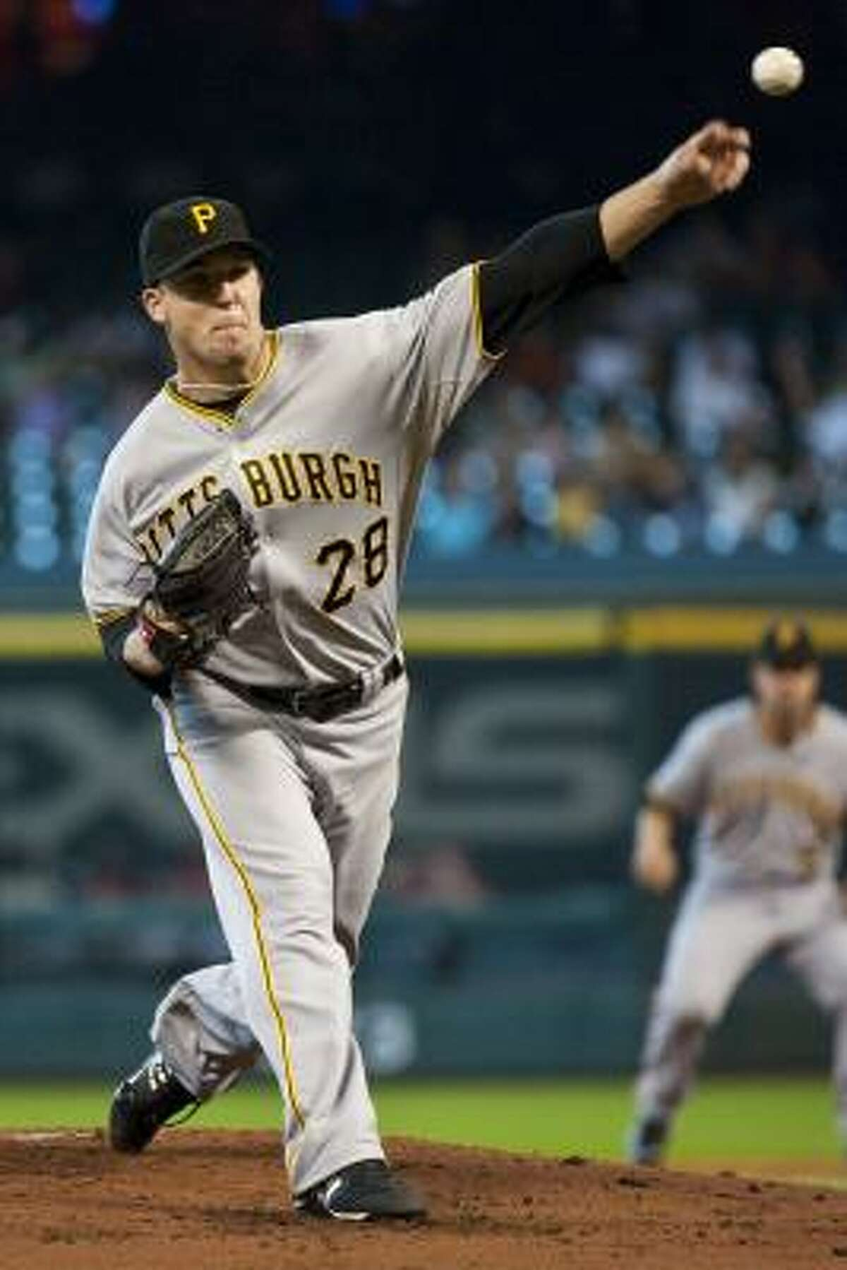 Game 3: Pirates 2, Astros 1 Paul Maholm started for the Pittsburgh Pirates.