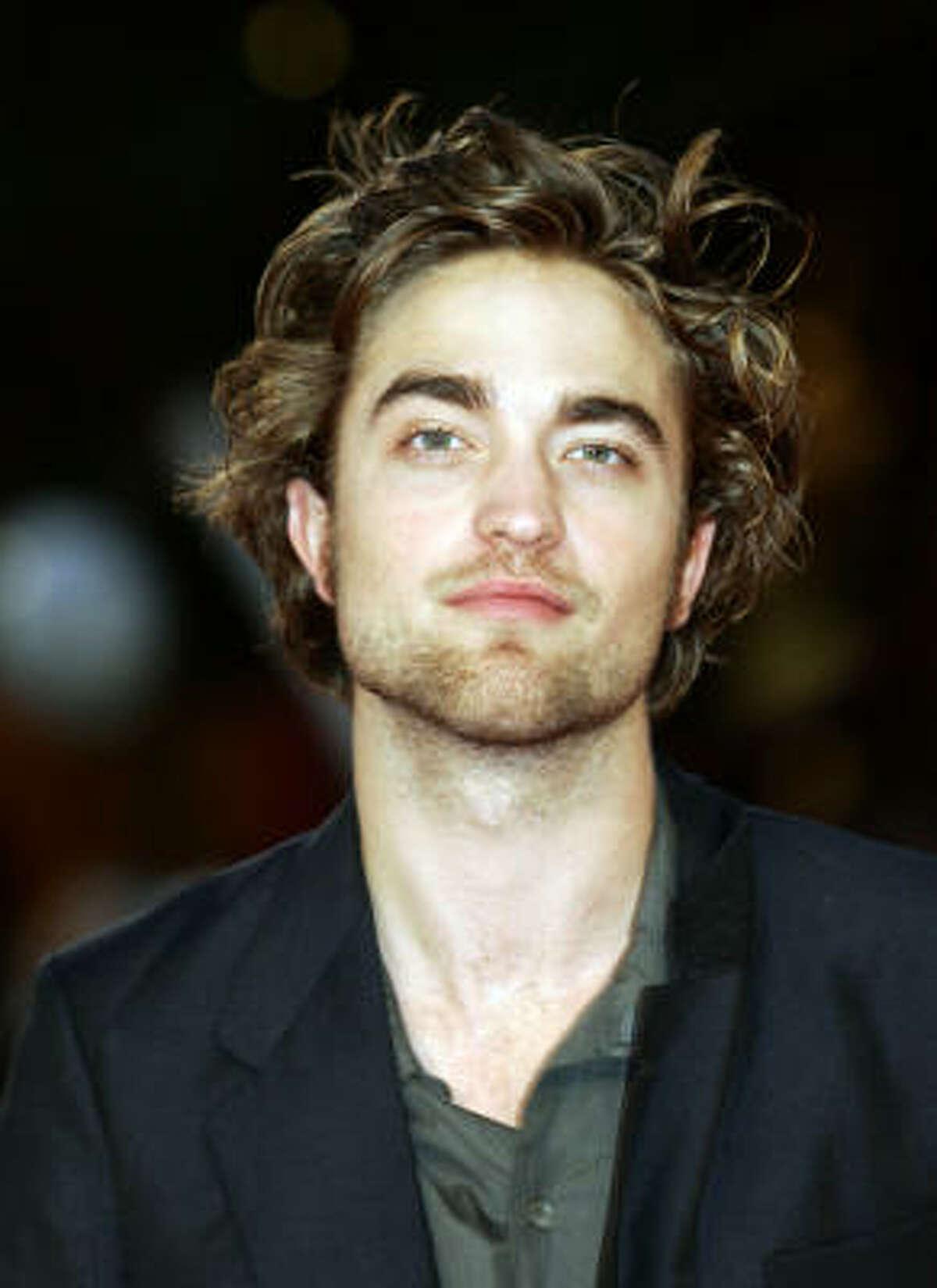 Robert Pattinson as Edward Cullen in Twilight.