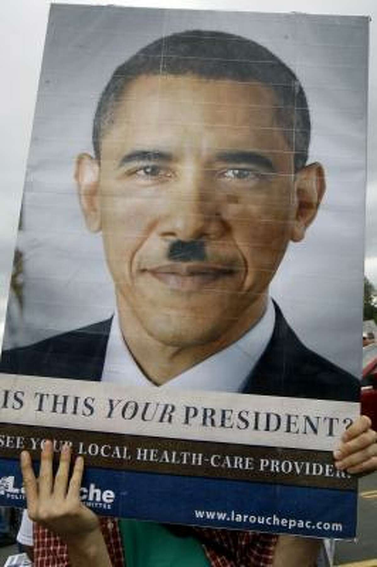 Critics of Obama's health care overhaul plan have often compared him to Hitler.