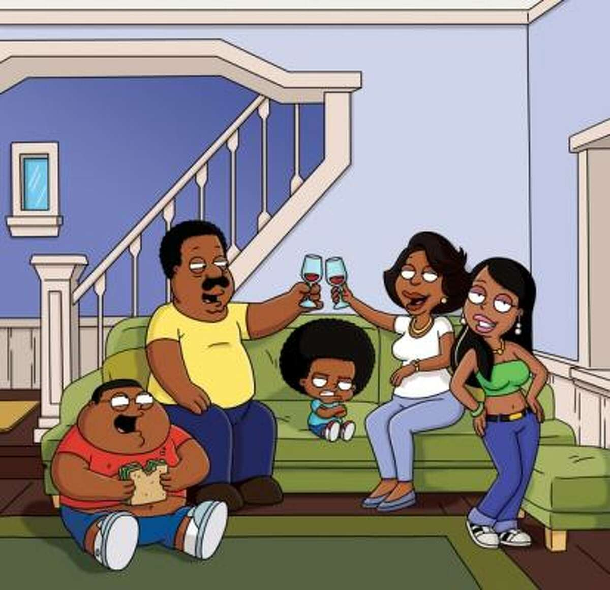 The Cleveland Show is a spinoff of Family Guy - that's all you need to know. You're either in or out. It airs Sundays on Fox.
