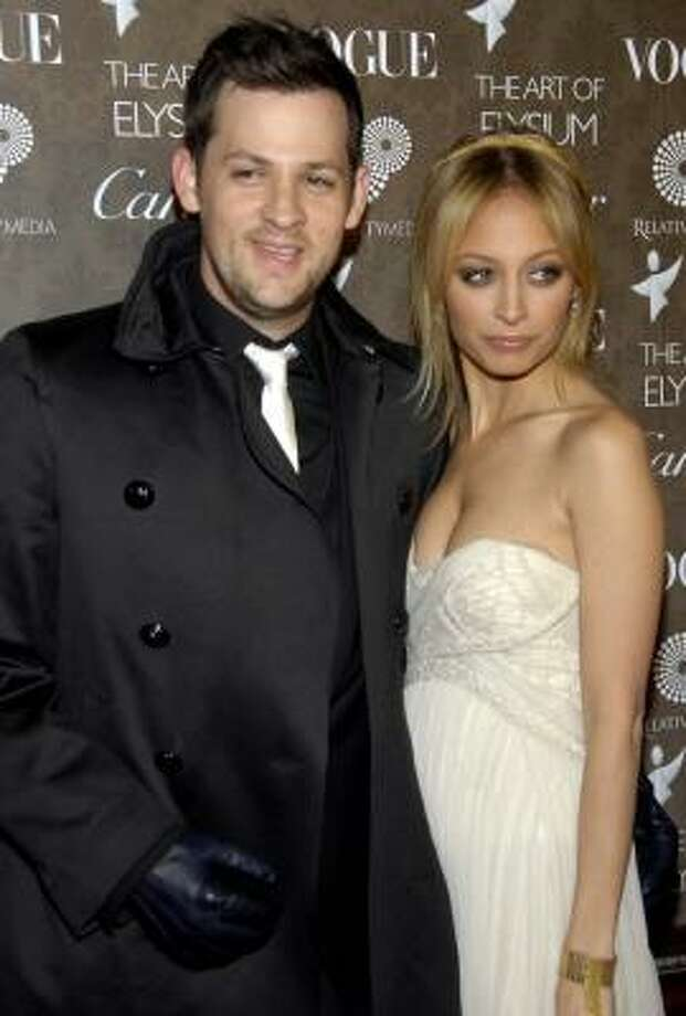 Nicole Richie and Joel Madden welcomed a little boy on 9-9-09. They have named the tyke Sparrow. Photo: DAN STEINBERG, AP
