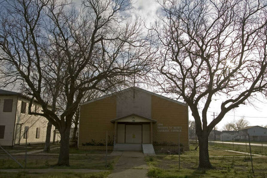 Shelter from the storm: Our Mother of Mercy Catholic Church in Port Bolivar, which was damage