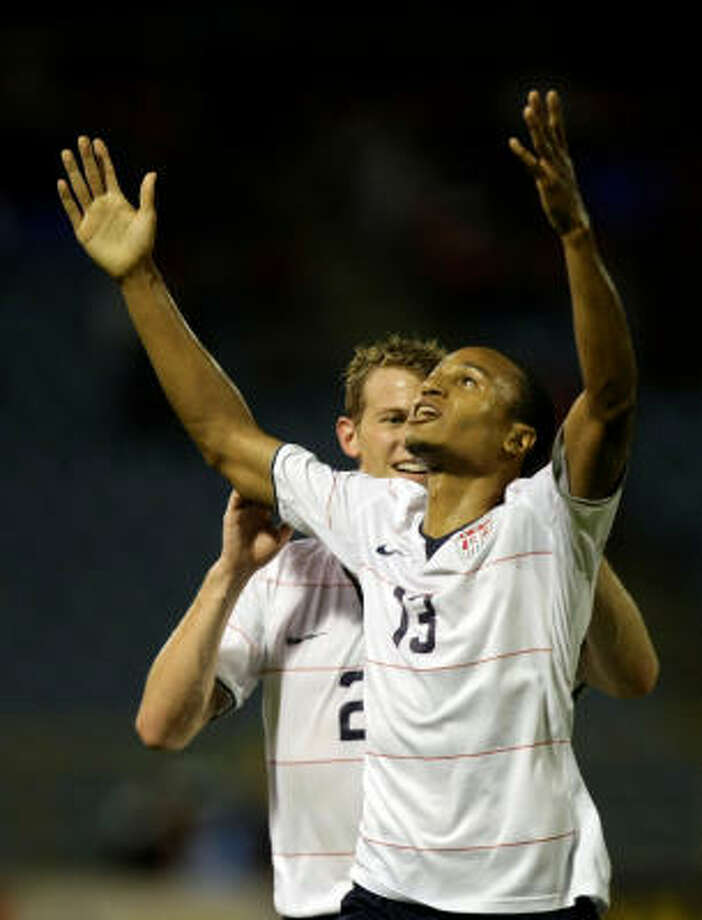 United States 1, Trinidad and Tobago 0The Dynamo's own Ricardo Clark (13) celebrates scoring the game-winning goal, putting the U.S. a step closer to South Africa. Photo: Fernando Llano, AP