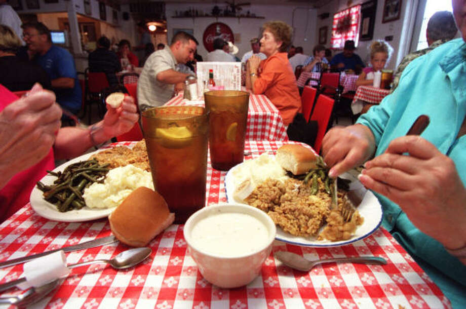 Mel's Country CaféWhat to expect: Mel's is the epitome of a small-town diner, complete with red and white-checked table cloths. Order an iced tea and enjoy favorites like the chicken fried steak or the Mega Mel burger.Hours: Tues.-Thurs., 11 a.m.-9 p.m.; Fri., 11 a.m.-10 p.m.; Sat., 7 a.m.-10 p.m.; Sun., 1 a.m.-5 p.m. Closed MondaysAddress: 24814 Stanolind Road, TomballVisit the website Photo: John Everett, Houston Chronicle