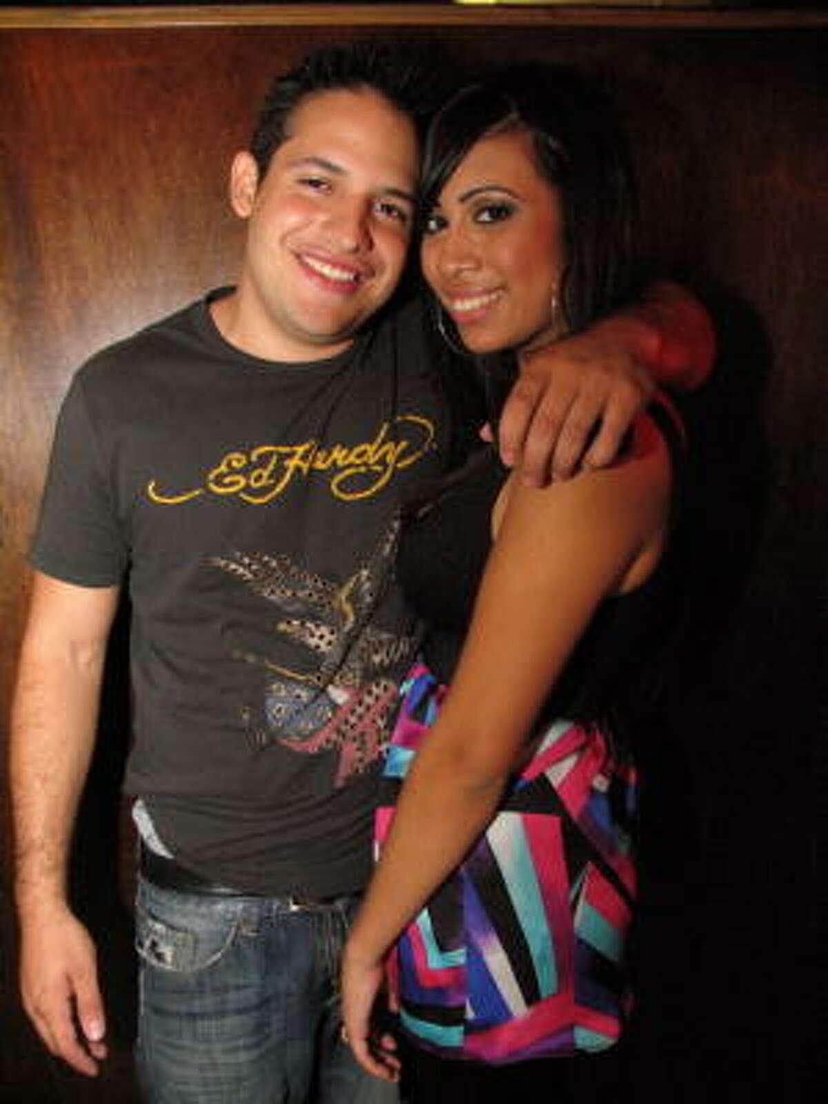 Ryan Sparrow, left, and Jessica Barrera