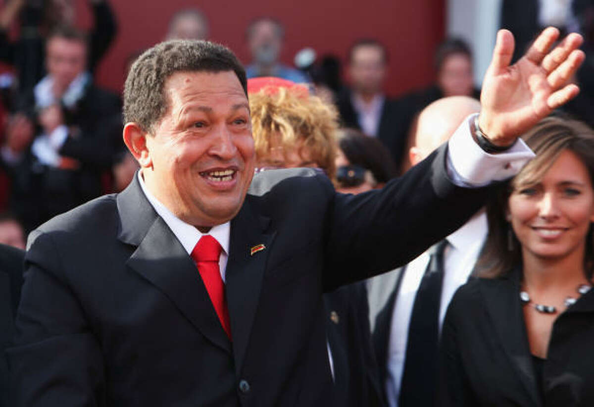 Venice Film Festival Who is it?: Hugo Chavez. Why is he there?: Oliver Stone's documentary is about conditions in Venezuela, where Chavez is president, and elsewhere in South America.
