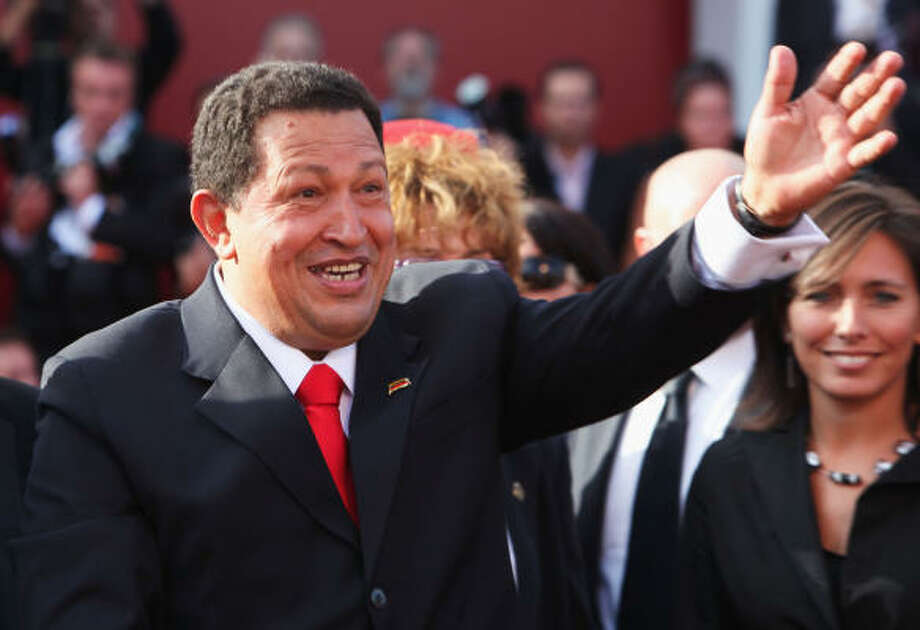 Venice Film Festival Who is it?: Hugo Chavez. Why is he there?:  Oliver Stone's documentary is about conditions in Venezuela, where Chavez is president, and elsewhere in South America. Photo: Dan Kitwood, Getty Images