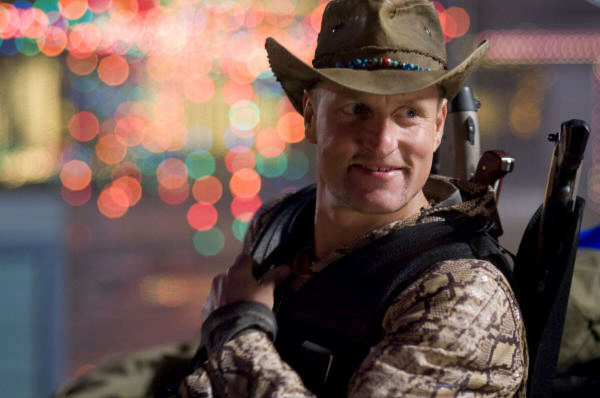 Woody Harrelson stars in the comedy Zombieland.