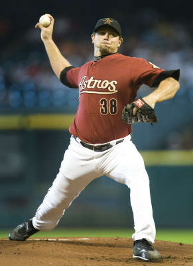 Sept. 7: Astros 4, Phillies 3Astros starter Brian Moehler gave up three runs and allowed five hits in five innings of work. Photo: Brett Coomer, Chronicle