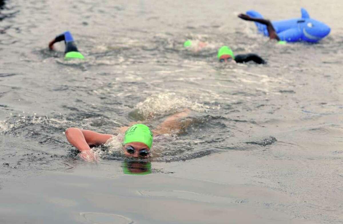 The 24th Annual SWIM Across the Sound Marathon Saturday, August 6, 2011 at Captainís Cove Seaport in Bridgeport, Conn.