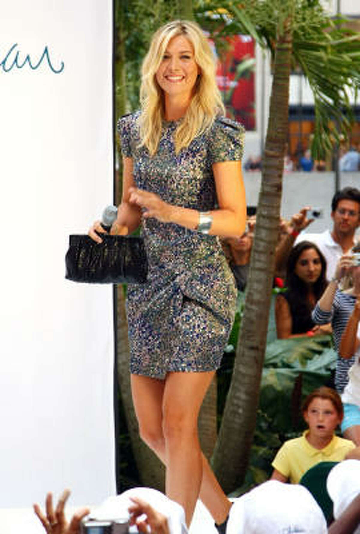 Tennis star Maria Sharapova attends the unveiling of her collection at Cole Haan Rockefeller Center Store on August 27 in New York. Read more about her collection.