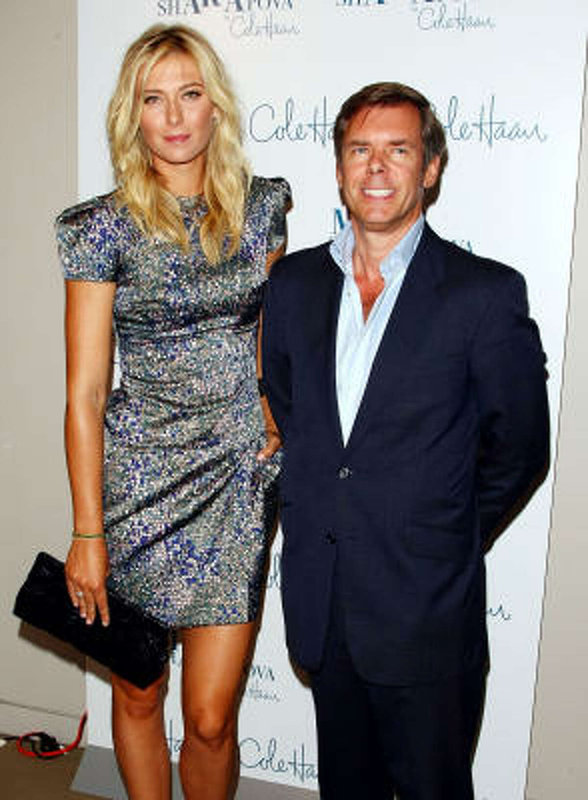 Tennis star Maria Sharapova and Cole Haan CEO Jim Seuss attend the unveiling of her collection.