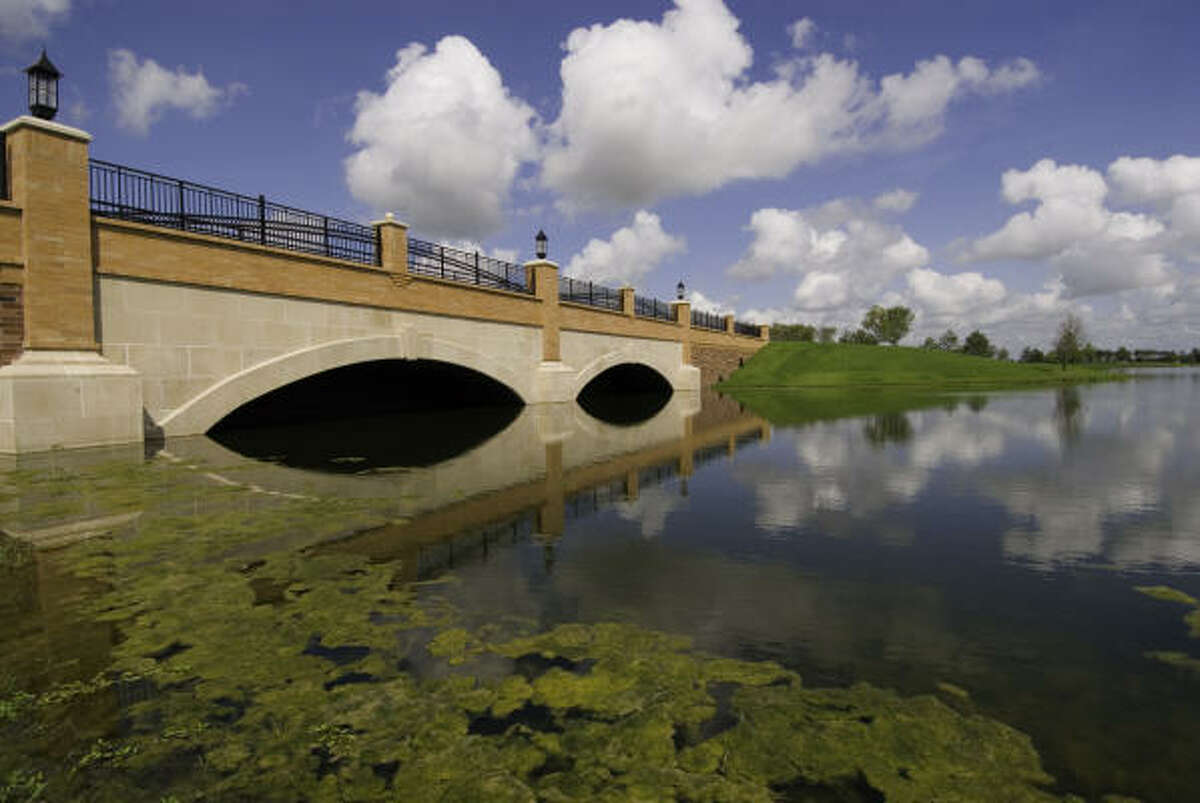 One of the bridges for which master-planned Bridgeland is known.