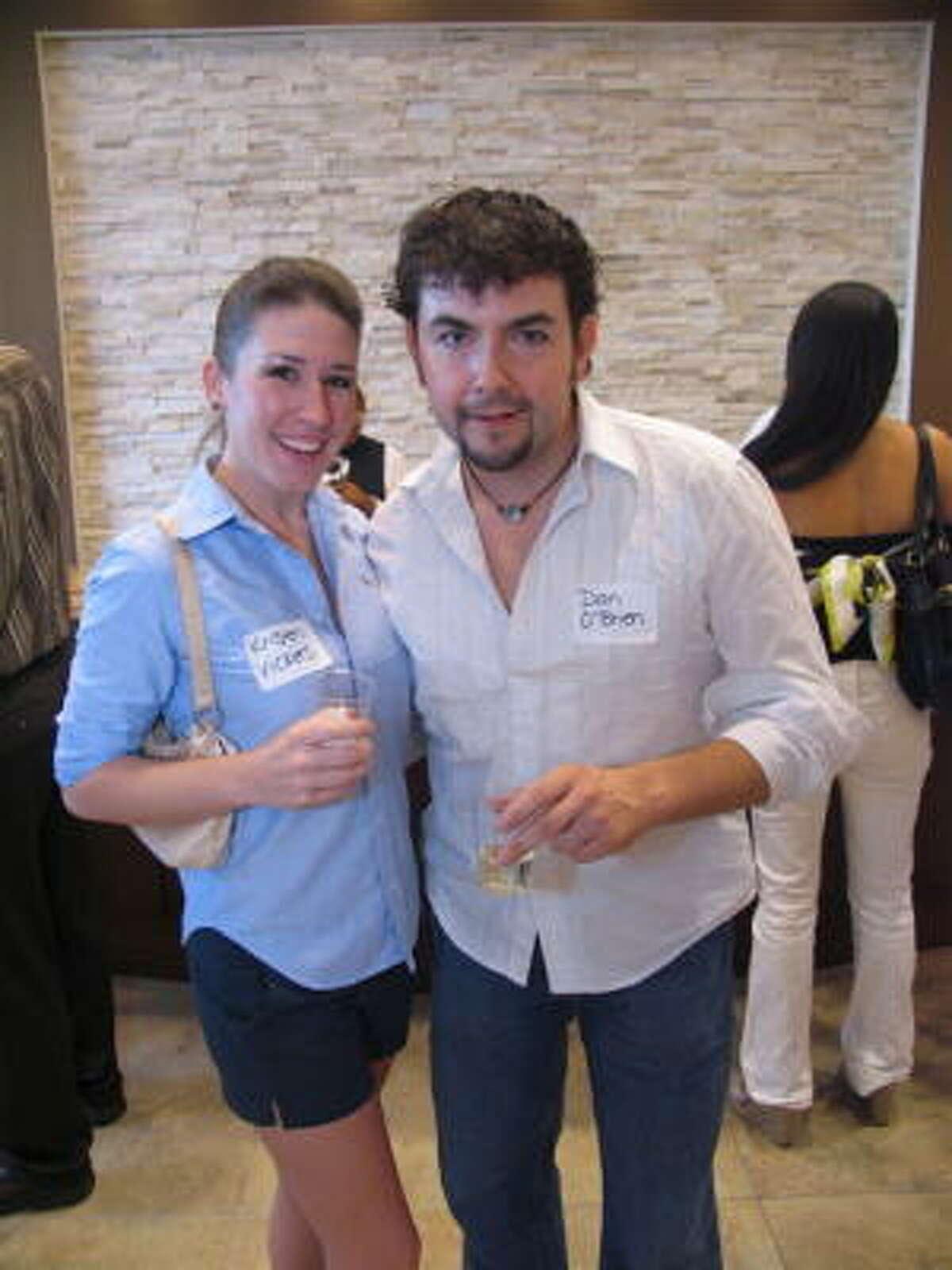 Kristen Vickers, left, and Dan O'Brien
