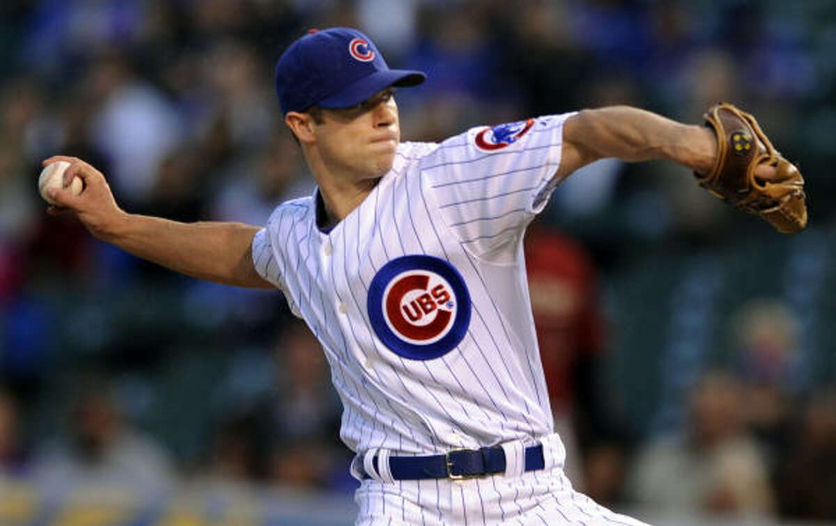 Rich Harden started for the Cubs