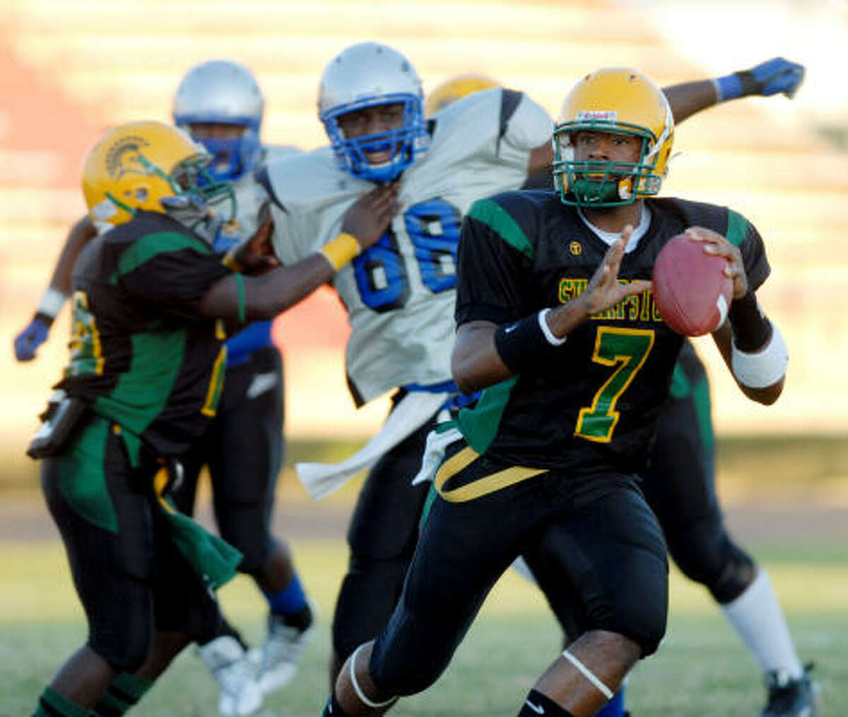 Sam Carter, QB, Hastings The former Sharpstown standout, who transferred from Morton Ranch last week amid an investigation, will play Friday against Atascocita.